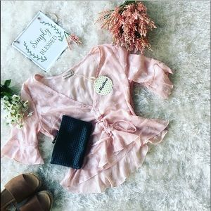 ALYTHEA TRANSLUCENT SMALL SOFT PINK BLOUSE 💕